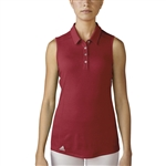 Adidas Performance Sleeveless Polo - Power Red