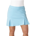 "Adidas Pleated 17"" Icey Blue Fashion Golf Skort"