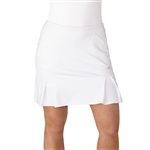"Adidas Pleated 17"" White Fashion Golf Skort"