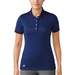 Adidas Pique Short Sleeve Mystery Ink Polo
