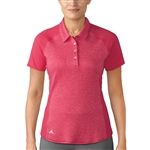 Adidas Heather Mesh Short Sleeve Energy Pink Polo