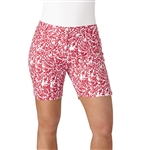 "Adidas Essentials Printed 7"" Energy Pink Golf Short"