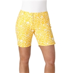 "Adidas Essentials Printed 7"" Eqt Yellow Golf Short"