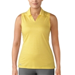 Adidas Tonal Stripe Sleeveless Eqt Yellow Polo