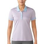 Adidas Three Toned Short Sleeve Pink Glow Pique Polo