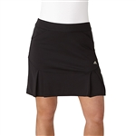 "Adidas Pleated 17"" Black Fashion Golf Skort"
