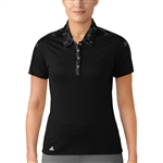 Adidas Printed Short Sleeve Black Polo