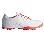 Adidas adiPURE DC Golf Shoe - White/Coral