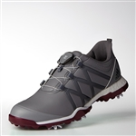 Adidas Womens Adipower Boost BOA Golf Shoe - Grey /Mystery Ruby