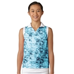 Adidas Girls Night Sky Sleeveless Golf Polo