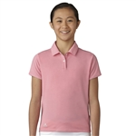 Adidas Girls Essentials Easy Pink Short Sleeve Polo