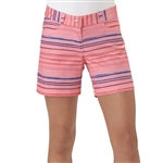 Adidas Girls Easy Pink Paint Stripe Golf Short