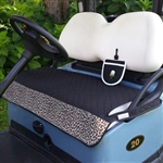 GolfChicBag Black/Leopard Quilted Golf Cart Seat Cover
