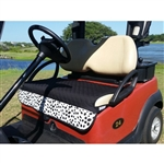 GolfChicBags Quilted Golf Cart Seat Cover - Black/White TOGO Print