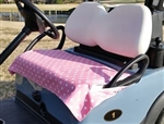 GolfChicBags Pink/White Polka Dot Golf Cart Seat Cover