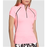 Tail Bloomingdale Short Sleeve Mock - Taffy Pink