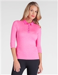 Tail Ginette 3/4 Sleeve Golf Polo - Animalesque