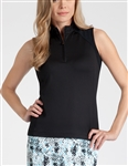Tail Michelle Sleeveless Golf Polo - Black
