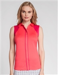 Tail Reina Sleeveless Polo - Rose Bud