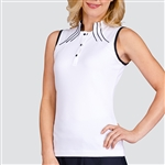 Tail Diya Sleeveless Top - White