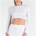 Tail Sasha Cropped Long Sleeve Top - White