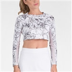 Tail Sasha Cropped Long Sleeve Top - Fissure