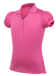 Garb Grace Girls Golf Polo - Pink