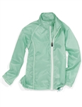 Garb Angela Girls Golf Packable Jacket - Seaglass Green