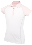 Garb Elsa Girls Golf Polo - White/Pink