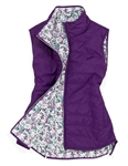 Garb Meredith Girls Golf Reversible Vest - Purple