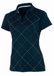 AUR Women's Bias Print Golf Polo - Nightfall