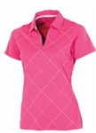 AUR Women's Bias Print Golf Polo Kiss