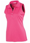 AUR Women's Zig Zag Stitch Sleeveless Golf Polo Kiss