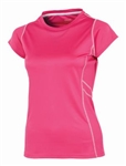 AUR Women's Stretch Cap Sleeve Crew Neck Kiss