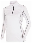 AUR Women's Stretch Quarter Zip Top - White