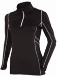 AUR Women's Stretch Quarter Zip Top - Black
