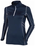 AUR Women's Stretch Quarter Zip Top - Nightfall