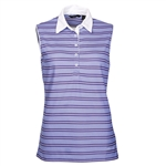 Abacus Golf Women's Helena Sleeveless Top - Blue Iris Stripe