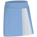 Adidas Tour Accordion Golf Skort - Bahia Blue