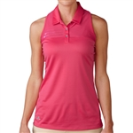 Adidas Tour Climachill Sleeveless Golf Polo - Raspberry Rose