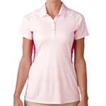 Adidas Tour Climachill Peplum Golf Polo - Blushing Pink/Raspberry Rose