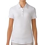 Adidas Golf Cotton Hand Stripe Polo - White