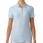 Adidas Golf Cotton Hand Stripe Polo - Soft Blue