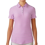 Adidas Golf Cotton Hand Stripe Polo-Wild Orchid