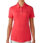 Adidas Essentials Heather Short Sleeve Polo - Shock Red