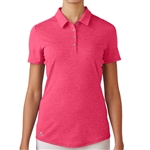 Adidas Essentials Heather Short Sleeve Polo - Raspberry Rose