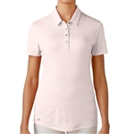 Adidas Essentials Heather Short Sleeve Polo - Blushing Pinkv