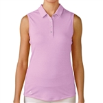 Adidas Essentials Heather Sleeveless Polo - Wild Orchid