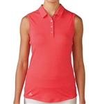 Adidas Essentials Heather Sleeveless Polo - Shock Red
