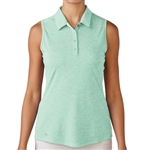 Adidas Essentials Heather Sleeveless Polo - Mint Burst